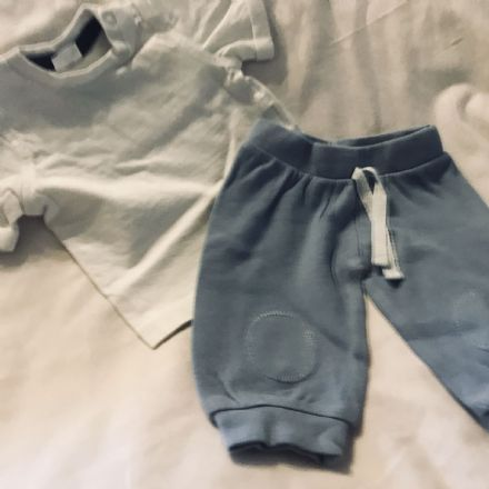 0-1 Month Trousers and Tee